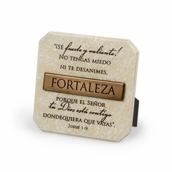 FORTALEZA (Strength) Spanish Plaque - Christian Home Decor