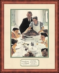 Freedom from Want by Norman Rockwell - Framed Christian Art