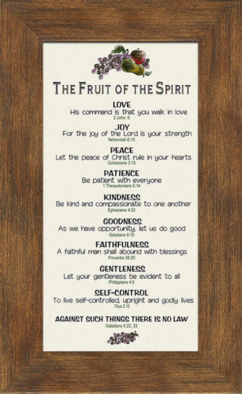 fruit of the spirit christian wall decor 4 frames available