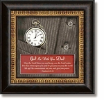 God Be With You Dad Numbers 6:24-26 Framed Table Clock