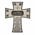 God Bless Our Family Resin Wall Cross