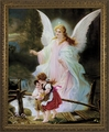 Guardian Angel on the Perilous Bridge (Gold Frame) - 4 Framed Options