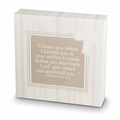 HE KNOWS ME Cream Printed Canvas Plaque