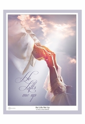 He Lifts Me Up by Danny Hahlbohm - Unframed Christian Art