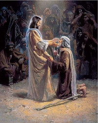Healing the Blind Man by Morgan Weistling - Unframed Christian Art