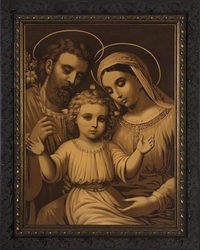 Holy Family (Antique) - Christian Art - 3 Framed Options