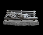 Homeless Jesus Christian Art Sculpture by Timothy P. Schmalz