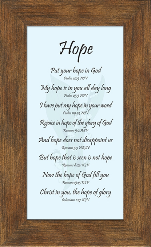 hope framed christian encouragement gift 4 frames available