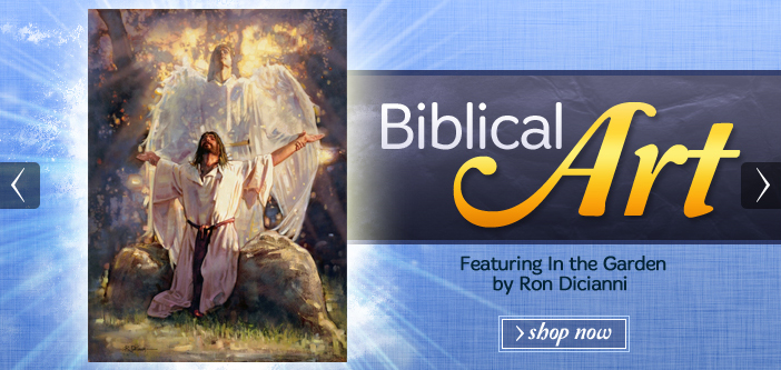 Biblical Art: Featuring In the Garden by Ron Dicianni