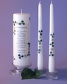 "Irish Wedding Blessing 3x9 Unity Candle & 12"" Tapers"