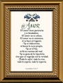 El Amor (Love) Framed Spanish Wall Decor Gift -  5 Frames Available