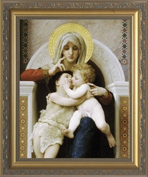 La Vi�rge au Lys (Virgin of the Lilies) by William Adolphe Bouguereau - 3 Framed Options