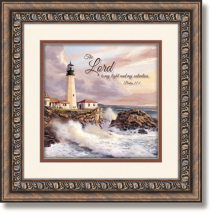 lighthouse psalm 271 framed christian wall decor
