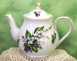 Lily of the Valley Victorian Scripture Teapot
