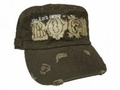 "Lord Is My Rock - ""Distressed"" Brown Christian Baseball Cap"