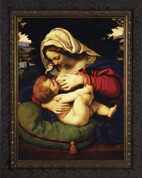 Madonna of the Green Cushion by Andrea Solario - 2 Ornate Dark Framed Options