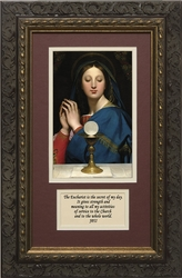 Madonna of the Host with Prayer - Framed Christian Art