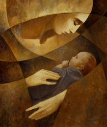 Mother and Child by J.Kirk Richards - 3 Unframed Options