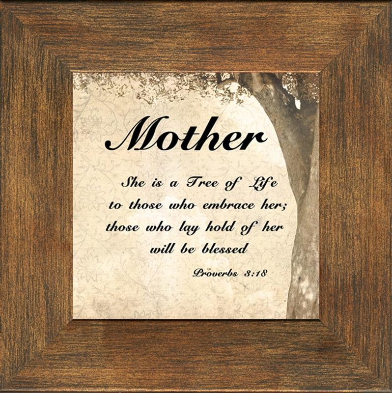 mother inspirational framed christian gift 4 frames available