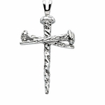 Nail Design Cross Pendant - 3 Options Available