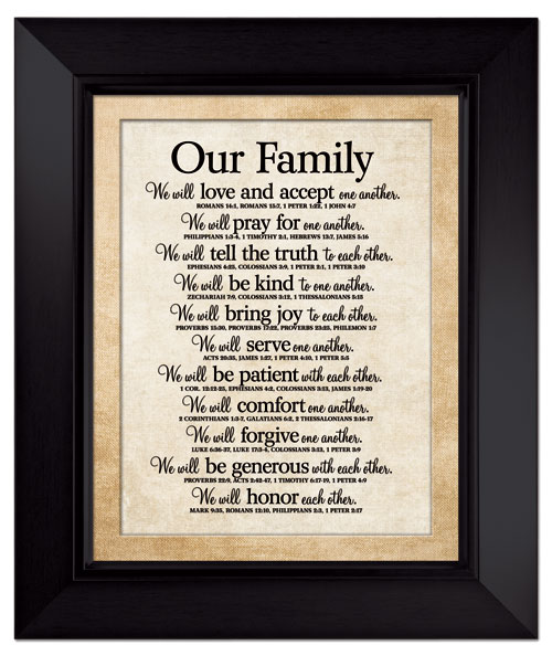 our family large wall plaque christian home decor