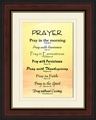 Prayer Framed Christian Wall Decor - 4 Frames Available