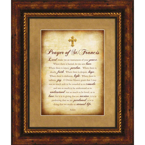 Prayer of St. Francis Catholic Wall Art