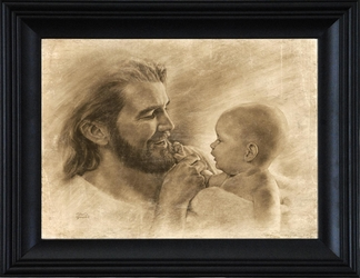 Precious by David Bowman - Jesus with Baby - 7 Framed & Unframed Options