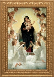 Queen of the Angels by William Adolphe Bouguereau (Ornate Gold Frame) - 3 Options