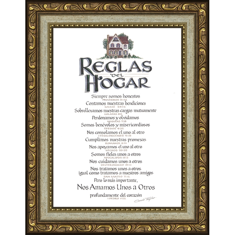reglas del hogar home rules 7 frames available