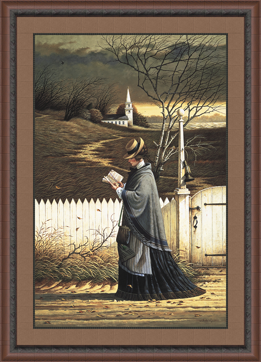 sea captains wife praying by charles wysocki framed christian art
