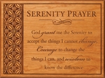 Serenity Prayer Carved Cherry Wood Plaque