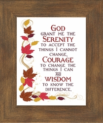 Serenity Prayer Encouragement Wall Decor - 4 Frames Available