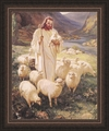 Shepherd by Warner Sallman - Framed Christian Art