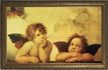 Sistine Madonna Angels by Raphael - 4 Framed Options