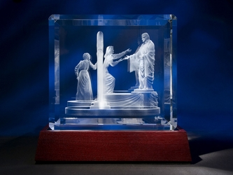Small Come Unto Me Crystal by Jerry Anderson