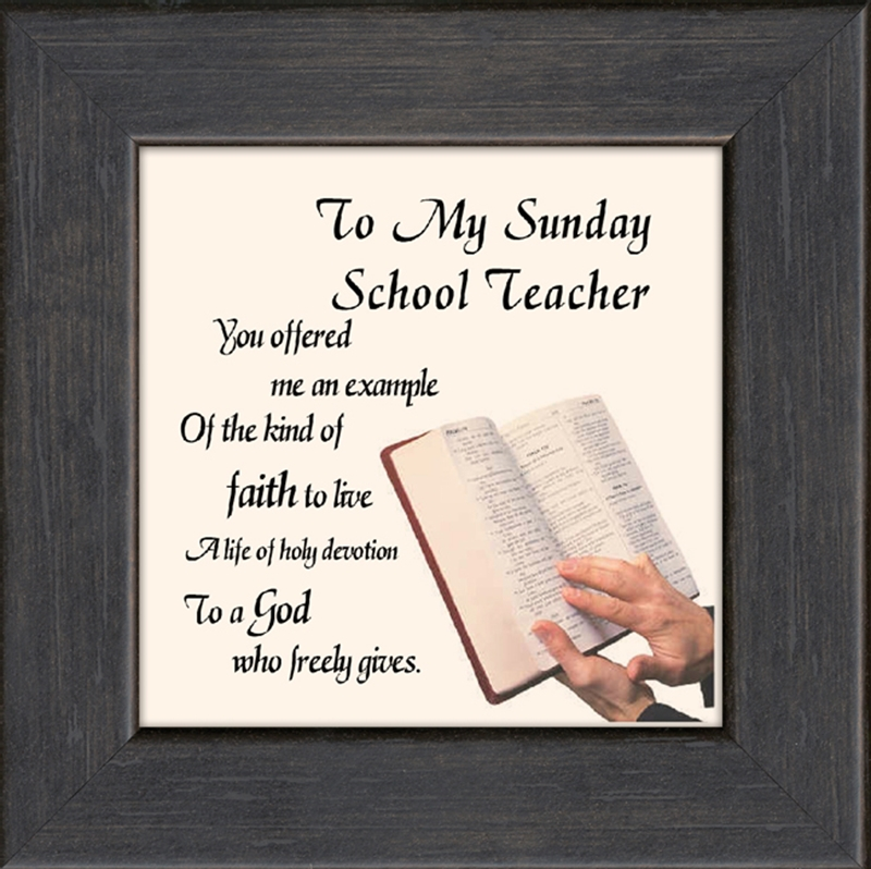 sunday school teacher framed christian gift 4 frames available