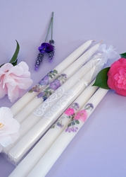 Swarovski Taper Candles (Pair)