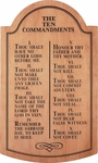 Ten Commandments Carved Cherry Wood Tablet