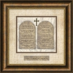 Ten Commandments Framed Christian Wall Decor
