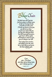 The Broken Chain Sympathy with Gold Frame