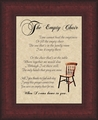 The Empty Chair Sympathy Gift on Parchment Paper