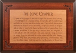The Love Chapter 2Tone Carved Cherry Wood Sign - Free Shipping