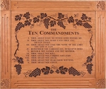 The Ten Commandments Grand Carved & Framed Sign