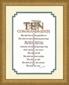 The Ten Commandments Scriptural Calligraphy Gold Frame