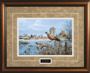 """The Wild Ones"" Pheasants in Flight by Scott Zoellick - Framed Christian Art"