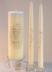 """""""This Day"""" Swarovski Crystal Oval Lace 3x9 Unity/12"""" Tapers"""