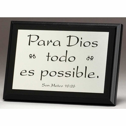 With God All Things Are Possible - Spanish - Package of 2