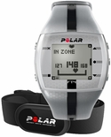 Polar FT4 Fitness Mens Heart Rate Monitor Silver Black 90036750