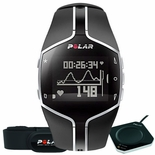Polar FT80 Fitness Heart Rate Monitor Black with Black display background